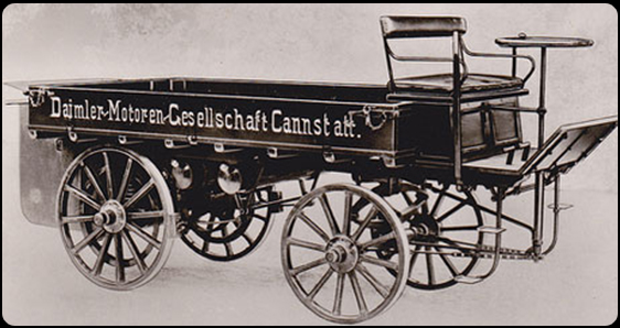 ... Gottlieb Daimler and Carl Benz, are inextricably linked with the creation of the automobile which began in 1886 with Daimler's first motor carriage ...