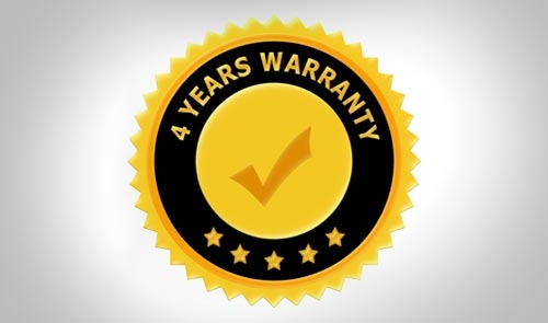 4 Years of Warranty
